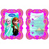 12-teiliges Einladungskarten-Set * FROZEN - DIE EISKÖNIGIN * für Disney-Kindergeburtstag // 6 Einladungskarten plus 6 Umschläge // Kinder Geburtstag Party Mottoparty Einladung Plates Mädchen Prinzessin Disney