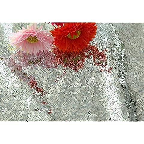 3,7m Argento Natale sala da pranzo in tessuto, paillettes tessuto, guide da tavolo/Tovaglia/Tessuto sfondo di