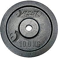 Best Sporting Hantelscheibe, 10 kg Disco de Pesas, Negro