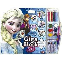 Frozen - Cuaderno gigante 5 en 1 (Cefatoys 21803)