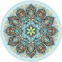 Preisvergleich für GXQ Yoga Matte Naturkautschuk Runde Meditation Matte Fitness Matte Anfänger Slip Schutz Übung Matte Outdoor Home Dance Meditation Kinder Krabbeln Matte Waschbar (Farbe : B)
