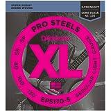 D'Addario ProSteels EPS170-5 Cordes longues pour basse 5 cordes Léger 45-130
