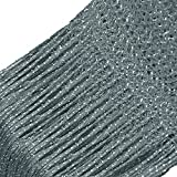 Story@Home Fancy Sparkling String Beads Polyester Hanging Curtain - 7ft, Silver