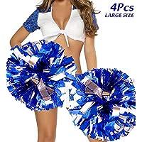 4 De Gran Tamaño Animadoras Pompones, Cheerleader Pompom de Porristas Pompones de Animadora para Bailar y Deportes Eventos Deportivos Cheerleading Pom Poms Fiesta Deportes Accesorios de Baile 14''