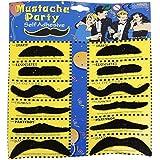 Fancydresswale stickon Moustache set of 12- Black