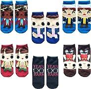 Vercico 6 Pack Ankle Socks Teen Women Stranger Novelty Things Socks Set No Show Low Cut Girls Casual Socks