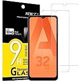 NEW'C [2 sztuki] ochraniacz ekranu do Samsung Galaxy A32 5G, Folia ochronna ze szkła hartowanego bez pęcherzyków powietrza, o
