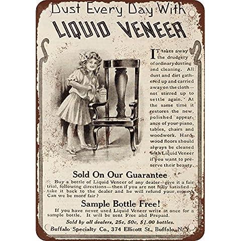 1910–Liquido pulizia impiallacciatura mobili stile vintage Riproduzione in metallo Tin Sign 20,3x 30,5cm