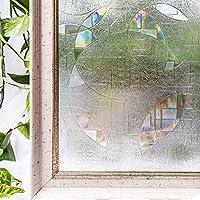 CottonColors película Adhesiva Decorativa de Ventana 3D Estático autoadhesivo de ventana Película para Acristalamiento, Película Que Oculta para Acogida oficina, Cuarto de baño Anti UV, Ningún 6Ps Favorable para el entorno(medio ambiente) 90CM x 200CM (3Ft X 6.5Ft)