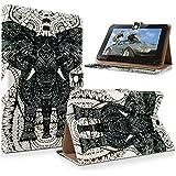 "art&cherry 7"" (7Zoll) Tablet / Tablet-PC Hülle Case - Fintie Ultradünne Smart Shell Cover Lightweight Schutzhülle Tasche Etui Elefant grau"
