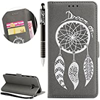 Galaxy A3 2017 Hülle, Galaxy A3 2017 Hülle Ledertasche Brieftasche im BookStyle, SainCat PU Leder Wallet Case... preisvergleich bei billige-tabletten.eu