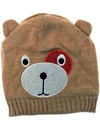 Bonnet doublé style ours - Fille