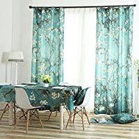 TINE HOME CURTAINS Fenster Vorhänge Mit U0026 Drapes Verdunkelungsvorhänge,  Apricot Blumen Fenster Dekoration