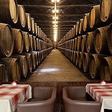Vino bodega Barriles Portugal Gastronomía de pared foto de la cocina del papel pintado disponible en 8 tamaños Mediano