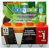Aquasolo 27153465 Lot de 4 Cônes d'Arrosage Orange Taille S