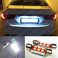 MCK Auto 3030 Bombilla LED Canbus para placa de matrícula, 6 LED SMD tipo fusible (Festoon), EA4R7, 36mm, color blanco xenón