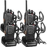 Walkie Talkie Recargable, 16 Canales PMR446 Walky Talky, Profecionales CTCSS DCS 3KM Radiocomunicación, con Auricular Incorpo