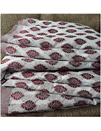 Fabric by metre 100% cotton white maroon jacquard embroidery dress material
