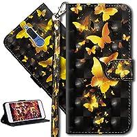 HMTECH Huawei Mate 10 Lite Hülle Luxus 3D Gold Schmetterling Blumen Flip Standfunktion Karten Slot Magnetverschluß... preisvergleich bei billige-tabletten.eu