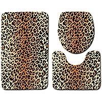 Morbuy Tapis de aain antiderapant Empreintes d animaux Striae Tapis de Bain  3 Pieces Absorbant c542a0b1e09
