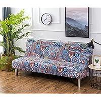 Cornasee funda de sofá elastica 3 plazas,cubiertas de tejer para el sofá sin brazos,impresión floral