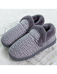 f3b9060b82719 YMFIE Las Parejas Caliente Interior de algodón algodón Zapatillas Damas Hombres  Invierno Zapatillas Zapatos y Zapatillas