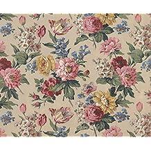 Pared Los Pícaros wr50510Floral flores–Pasta la pared papel pintado de–300cm x 240cm), color rosa