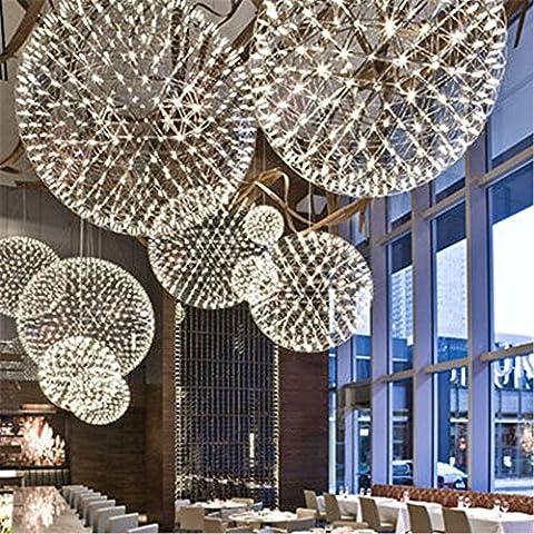 CAC Fatto a mano in Acciaio Inox Creative Circle Ciondolo luce Moooi Raimond LED lampada fuochi d' artificio Ristorante SFERA D20/D30/D40/50/60CM,D45CM