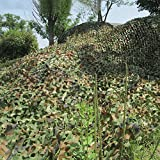 Camouflage Netting Camo Net Oxford Fabric Hunting Shooting Hide Woodland Camping Military (Camo Green, 2x3M)