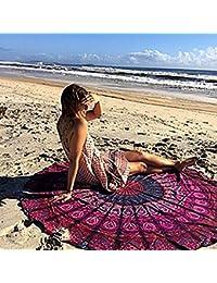Indien Mandala Ronde Tapisserie de Plage Tapis de Yoga Décoration Murale