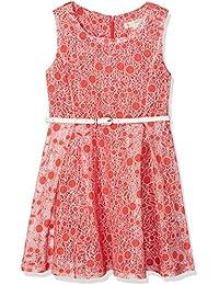 Yumi Cherry Burnout Dress (Red), Vestido para Niños