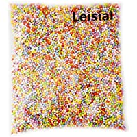 Leisial La Produzione di Materiali Creativi diy a Colore Schiuma Particelle Polyflor Dragon Ball Riempimento Decorativo delle Particelle Bianco (Colore)