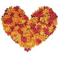 Hojas artificiales de arce, hojas de otoño multicolores, guirnalda mixta para decoración del hogar, bodas, etc. de MerryNine