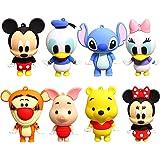 CYSJ 8 Piezas Juego de Minifiguras de Mickey Suministros para Fiesta de cumpleaños Figuras para Cupcakes decoración para Tart
