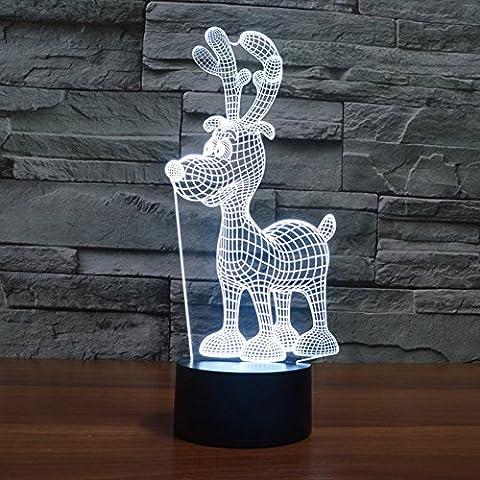 Illusione 3d lampada luce notturna jawell Little Fawn 7Cambiare colore Touch USB tavolo regalo giocattoli decorazioni