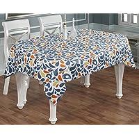 Tovaglia di tela rettangolare 6 posti -100% cotone tavola floreali panno ringraziamento arancione verde -140 x 180 cm