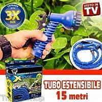 TrAdE shop Traesio TUBO MAGICO DA GIARDINO 15 METRI ALLUNGABILE ESTENSIBILE MAGIC HOSE VARI COLORI
