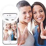 AUTOPkio Selfie Ring Licht, 36 LED USB Oplaadbaar Selfielampen Duisternis Verbetering Clip On voor Smartphone Fotografie Webc