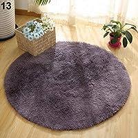 Amesii - Soffice tappeto rotondo, antiscivolo, per bagno, camera da letto, yoga, decorativo -# 1CF0278, dimensioni:40cm x 40cm #13