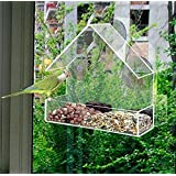 Redwood Leisure Window Bird Feeder Clear Perspex Hanging Bird Feeder With Suction Cup BB-BF111