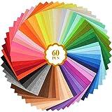 60pcs Feuilles de Feutre Artisanal,Feutre Tissu Artisanat Feutre, Feutre Coloré, Feutre Multicolore Tissu Non Tissé Enfants B