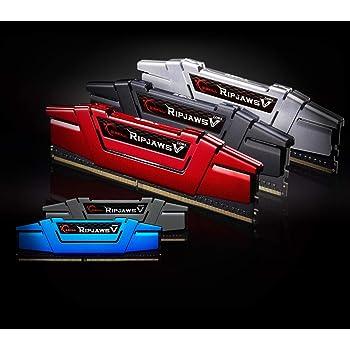 GSkill F4-3000C15D-8GVRB Memoria RAM da 4 GB, DDR4, 3000 MHz, CL15, Kit 2 Pezzi, Nero-Rosso