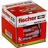 Fischer Taco Duopower Uds, 538243, Gris y Rojo, 12x60 (Caja 25 tacos), Set Piezas