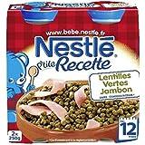 Nestlé p'tite recette lentilles vertes et jambon 2x250g dès 12 mois - ( Prix Unitaire ) - Envoi Rapide Et Soignée