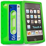 Accessory Master- vert cassette Housse silicone pour Apple ipod touch 4