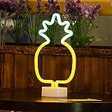 Insegne al Neon con Ananas a LED con Luce Decorativa per Base di Supporto, Decorazioni Tavolo per Natale, Festa di Compleanno