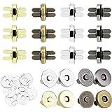 CODIRATO 40 Pezzi Bottoni Magnetici Metallo Chiusura a Bottoni Fermagli per Borsa DIY Cucito Artigianato (4 Colori, 14mm)