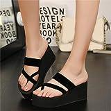 Women Slippers Wedges Summer Beach Shoes Wedges Flip Flops Women Indoor Outdoor Slippers Casual Non-Slip Shoes