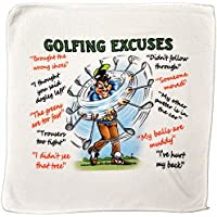 Golf Excuses Microfibre Cleaning Cloth – Perfect for cleaning Golf Balls and Golf Clubs – Makes an Ideal Gift
