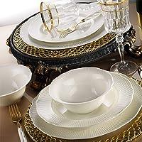 Kütahya Porselen İlay Sade 12 Kişilik 24 Parça Krem Yemek Takımı